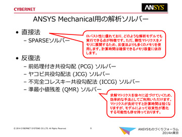 Ansys Mechanical用の解析ソルバー