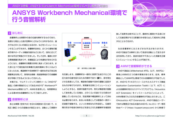 ANSYS Workbench Mechanical環境で行う音響解析